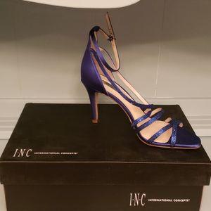 Inc International Concepts Blue Rhinestone Heels